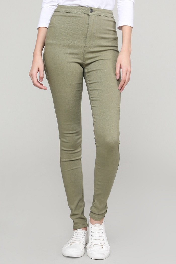 High Waist Super Stretch Skinny Pants
