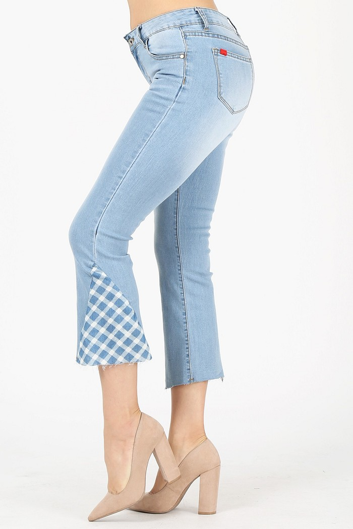 Cropped Washed Stretch Skinny Cotton Denim Jeans