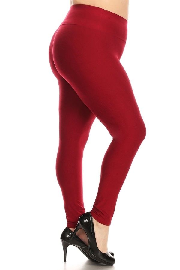 Plus Size High Waist Brushed Legging Pants